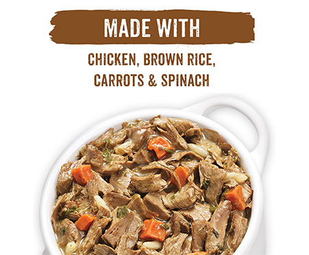 Purina Beneful Prepared Meals Roasted Chicken Recipe with Brown Rice, Carrots & Spinach Wet Dog Food