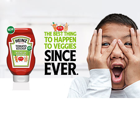 Heinz Tomato Ketchup with a Blend of Veggies