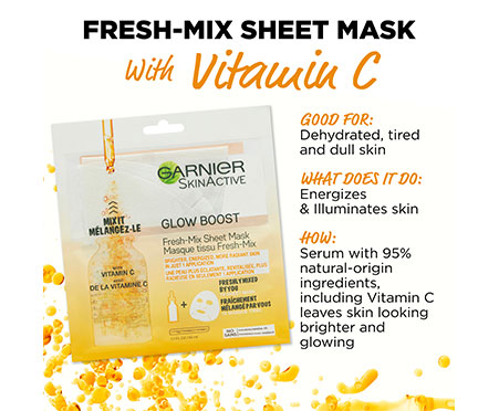 Garnier SkinActive Glow Boost Fresh-Mix Sheet Mask