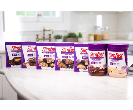 SlimFast Diabetic Weight Loss Nutty Caramel & Chocolate Cluster Snack