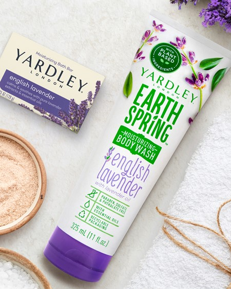 Earth Spring Moisturizing Body Wash in English Lavender and Oatmeal & Almond by Yardley London