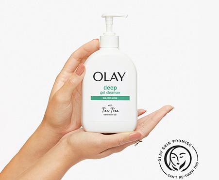 Olay Deep Gel Face Wash with Tea Tree Essential Oil
