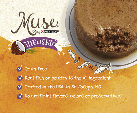Muse® by Purina® Infused Natural Pate Recipes Infused with a Touch of Coconut Milk