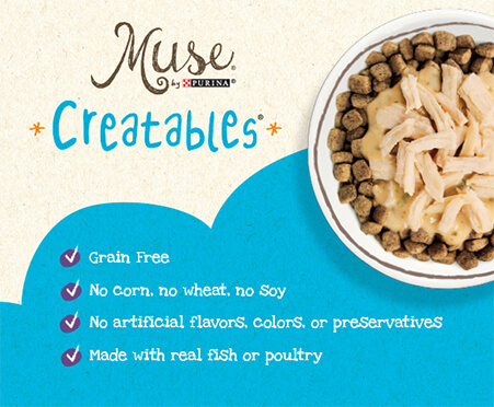 Muse Creatables Crunchy Bites - Natural Grain Free Bites with Salmon