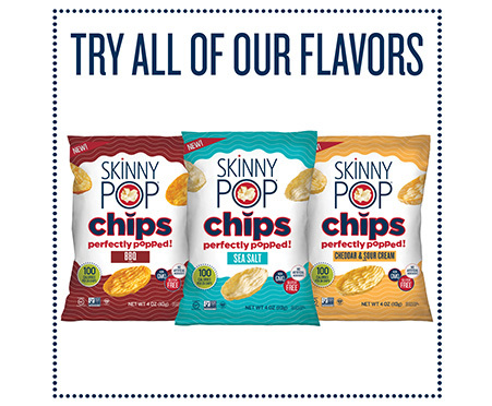 SkinnyPop Popped Chips with Sea Salt