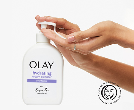 Olay Hydrating Cream Face Wash with Lavender Essential Oil