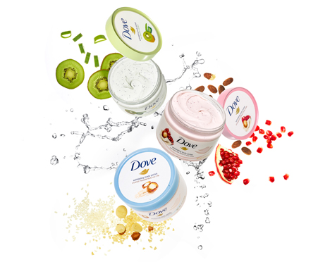 Dove Exfoliating Body Polish Pomegranate Seeds And Shea Butter Classically Contemporary