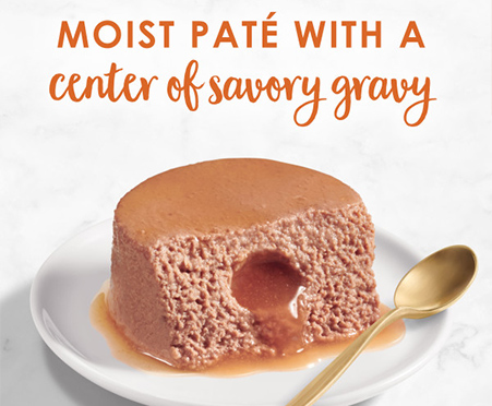 Fancy Feast Savory Centers Pate with Chicken and a Gourmet Gravy Center
